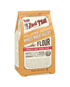 Bob's Red Mill 100% Stone Ground Whole Wheat Pastry Flour 5 LBS / 2.27Kg