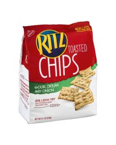 Ritz Toasted Chips, Sour Cream and Onion 8.1 OZ (229g)