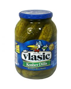 Vlasic Kosher Dill Pickles Whole 46 FL OZ (1.36L) 维纳斯原味整黄瓜