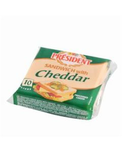President Cheddar Cheese Sandwich Slices - 10 Slices (200g)