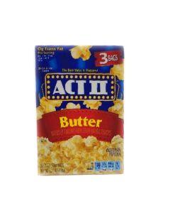 ACT II Microwave Popcorn Butter Flavor (3 Bags) 8.25 OZ (234g) 艾可提黄油味爆米花