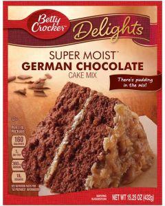 BBDS Betty Crocker Delights Super Moist German Chocolate Cake Mix 15.25 OZ (432g) 贝蒂牌蛋糕粉 (德国巧克力味)