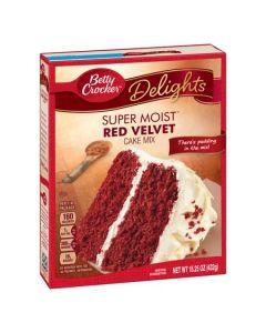 Betty Crocker Delights Super Moist Red Velvet Cake Mix 15.25 OZ (432g) 贝蒂牌蛋糕粉 (红丝绒)