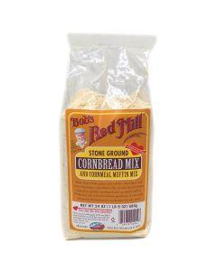 Bob's Red Mill Stone Ground Cornbread Mix & Cornmeal Muffin Mix 24 OZ (680g) 鮑勃紅磨坊玉米鬆餅和玉米麵包製作用粉