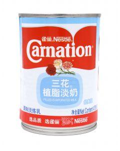 Nestle Carnation Filled Evaporated Milk (410g) 雀巢三花植脂淡奶 (调制淡炼乳)