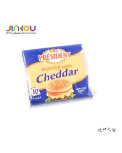President Cheddar Cheese Burger Slices - 10 Slices (200g)