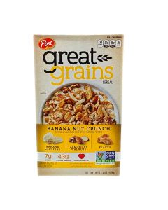 Post Great Grains Cereal Banana Nut Crunch 15.5oz / 439g
