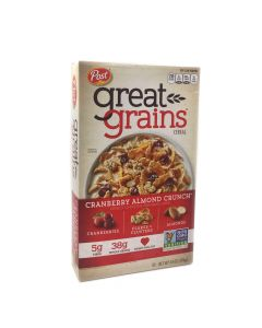 Post Great Grains Cranberry Almond Crunch Cereal 14 OZ (396g)