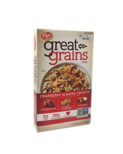 BBDS Post Great Grains Cranberry Almond Crunch Cereal 14 OZ (396g)