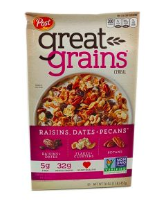 Post Great Grains Cerel Raisins Dates & Pecans 16 OZ (453g)