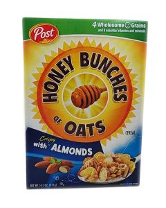 Post honey Bunches of Oats with Almonds Cereal (411g) 宝氏蜂蜜扁桃仁麦片