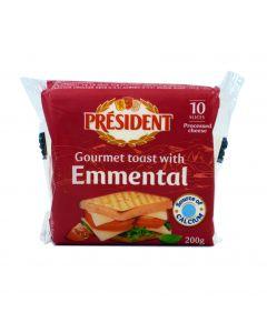 President Emmental Cheese Slices - 10 Slices (200g)