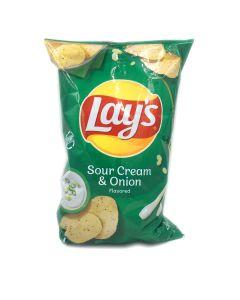 Lay's Sour Cream & Onion Chips 6.5 OZ (184g) 乐事酸奶油洋葱味薯片 (膨化食品)