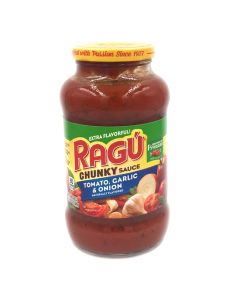 Ragu Pasta Sauce Chunky Tomato Garlic & Onion (680g) 乐鲜双重番茄烤蒜洋葱味意粉调味酱