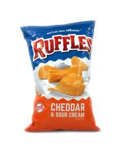 Ruffles Cheddar & Sour Cream Potato Chips (Crisps) 8.5 OZ (184.2g)